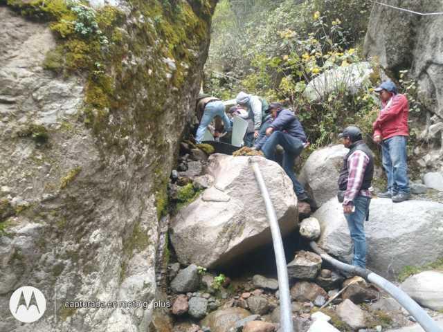 Realizan reparaciones en el encauzamiento del agua rodada de la Malintzi