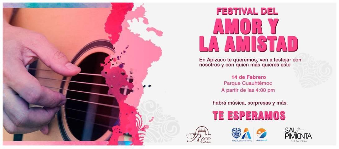 Invita gobierno de Apizaco al festival del día de amor y la amistad