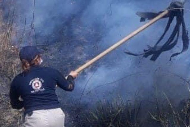 Exhortan a campesinos de Nativitas a evitar quemas agrícolas