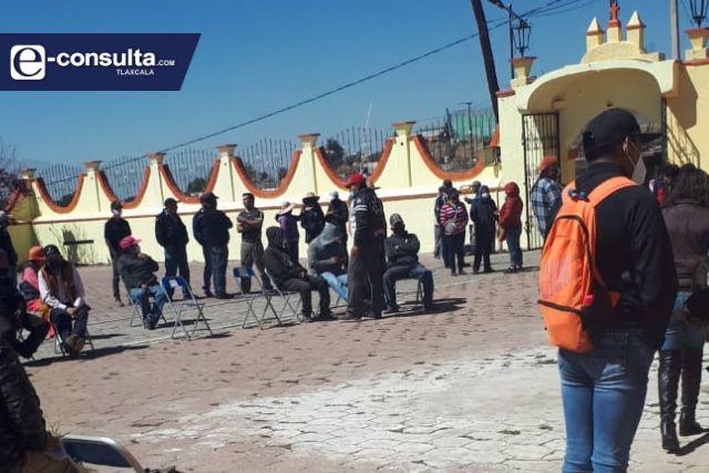 Pactan asamblea para elecciones en Huexoyucan, Panotla para marzo