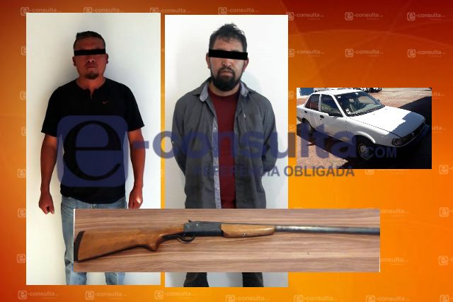 La Policía Estatal de Caminos asegura a dos personas y un arma de fuego en Tlaxco