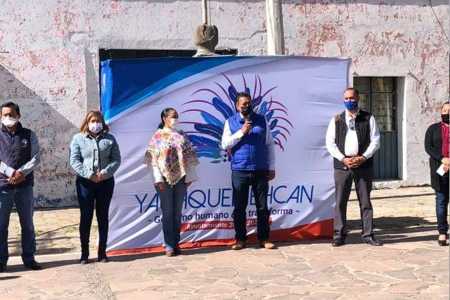 Villarreal Chairez inicia remodelación de la Plaza Cívica de Yauhquemehcan