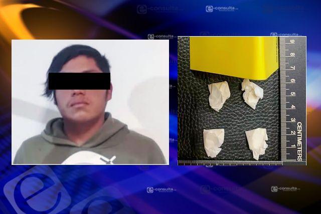 La SSC detiene en Chiautempan a una persona con sustancias ilegales