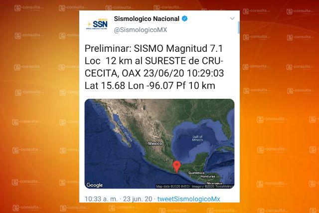 Temblor sacude a Tlaxcala infestado de Covid-19