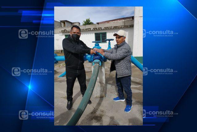 Entregan autoridades de Quilehtla obra de rehabilitación de pozo 1 de agua potable