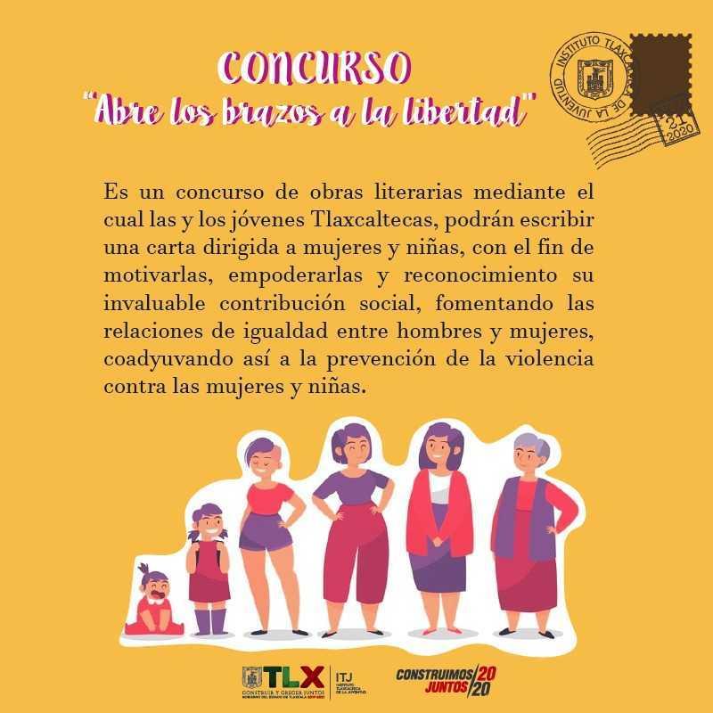 Convoca ITJ a jóvenes a participar en concurso: Abre Los Brazos A La Libertad
