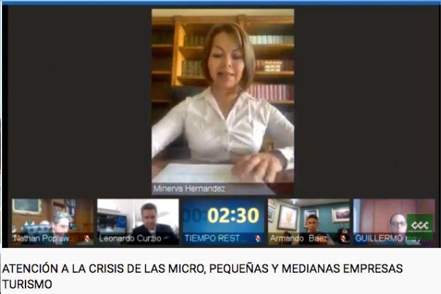 Participa Minerva Hernández en mesa virtual del Consejo Coordinador Empresarial