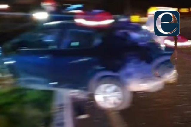 Fuerte accidente se registra sobre la autopista Tlaxcala- Texmelucan