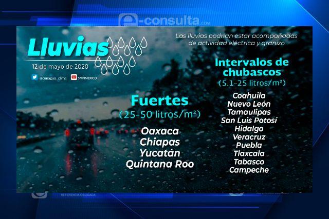 Se pronostican lluvias moderadas para Tlaxcala el día de hoy