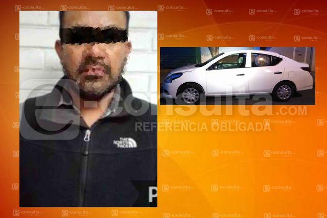 Detienen a ladrón de autos en Tlaxcala