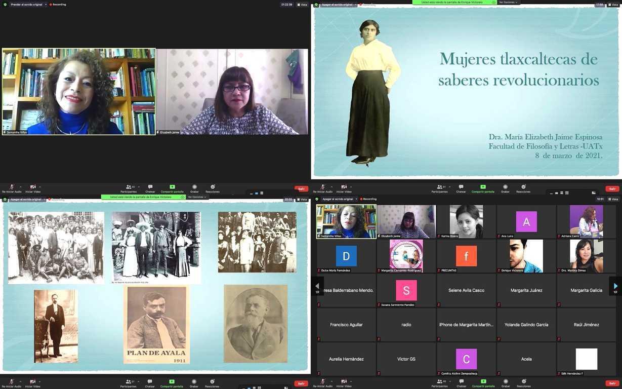 """Inicia UATx ciclo de conferencias """"Mujeres que estudian mujeres"""""""