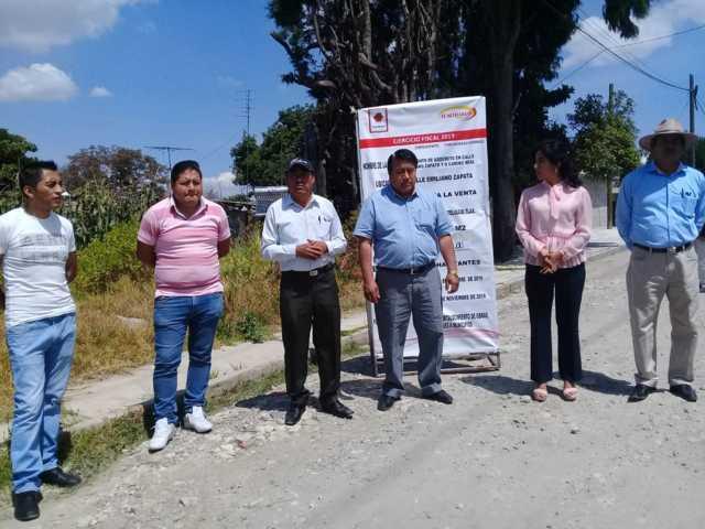 Alcalde y diputada inician obra por 2.5 mdp en la calle Zapata de la Venta