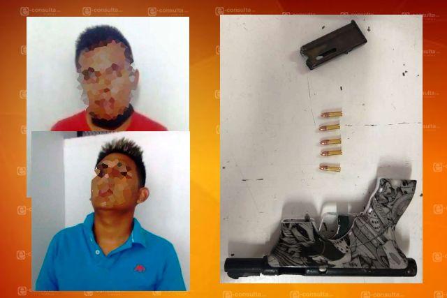 La SSC detiene en San Luis Teolocholco a dos personas con un arma de fuego