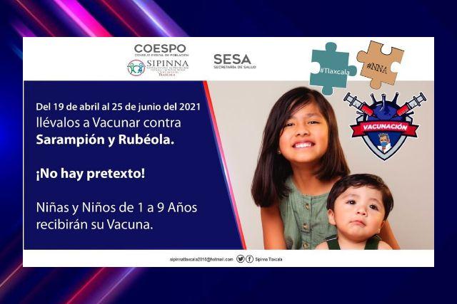 Aprovechar el sistema de vacunación para niños, piden en Yauhquemehcan