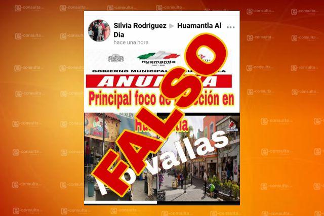 Publicaciones falsas de Huamantla solo buscar generar incertidumbre