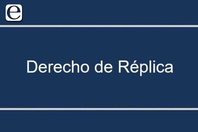 Derecho de réplica Yeny Charrez Carlos