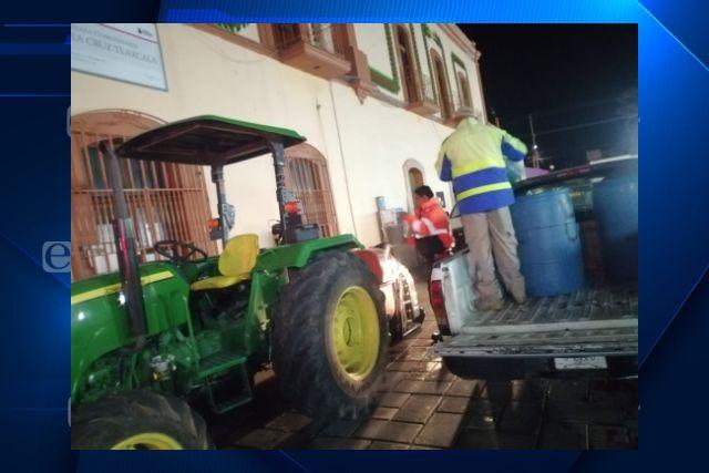 PC del estado y municipal realizan acciones  preventivas en Santa Cruz Tlaxcala