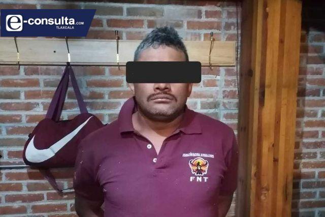 Policía de Totolac logra la detención de un asaltante; portaba un arma blanca