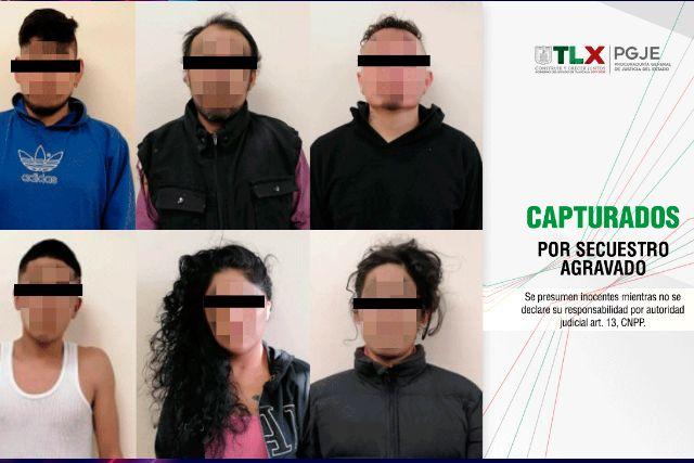 Capturan a banda de secuestradores que se ubicaban en San Pablo del Monte
