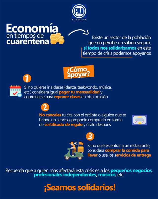 Comparte PAN Tlaxcala recomendaciones para apoyar a emprendedores por cuarentena