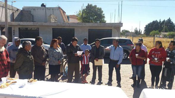 Rinden protesta delegados de barrios y colonias de Tlaltelulco