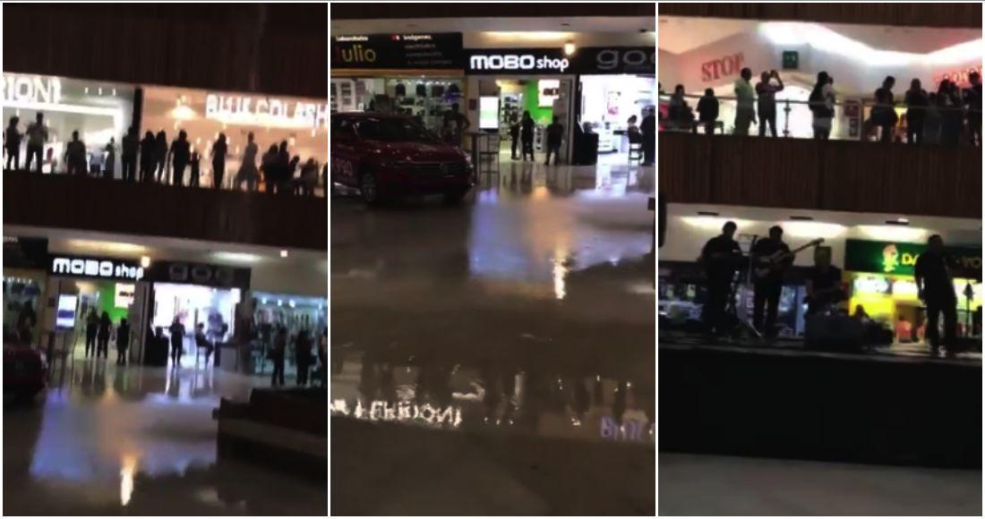 Se inunda en Jalisco un centro comercial al estilo Titanic
