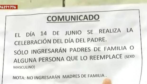 Denuncian discriminación al prohibir la entrada a madres en el festejo del Día del Padre