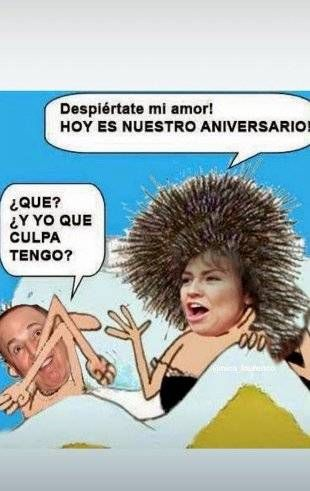 Thalía celebra de la mejor manera su aniversario de bodas al estilo parodia