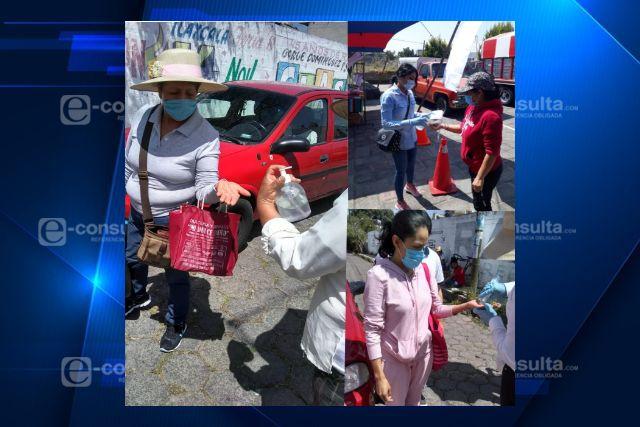 Se realizan medidas precautorias en los tianguis de Santa Cruz Tlaxcala y Guadalupe Tlachco