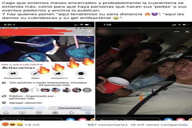 """Jóvenes realizan fiestas covid clandestinas """"Bellacovirus"""" en Iztapalapa"""