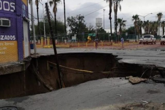 Aparece en Tamaulipas otro socavón gigante como en Puebla
