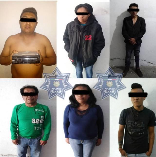 Asegura Policía de Apizaco a seis personas, afectados no proceden