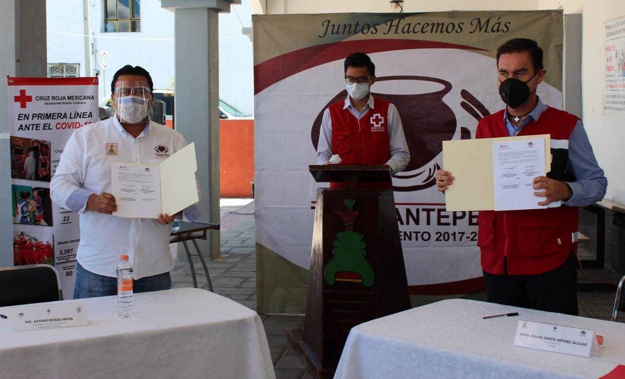 Firma Convenio de Colaboración Gobierno de Tzompantepec y Cruz Roja Mexicana Tlaxcala