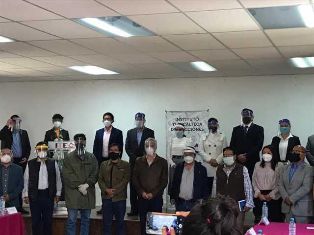 Se reúnen dirigentes de los partidos políticos con autoridades del ITE