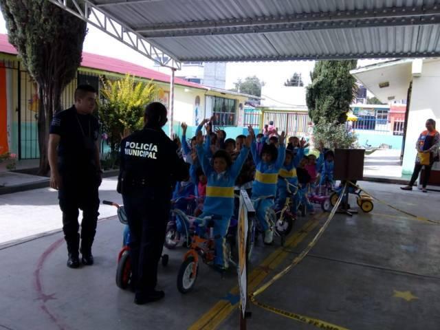 Imparten curso de Educación Vial en Jardín de Niños de Chiautempan