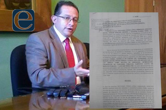 Presentan denuncia penal contra Víctor Manuel Cid del Prado por amenazas