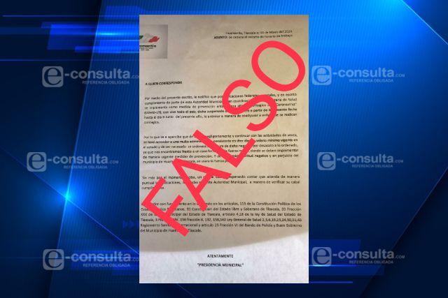 Ayuntamiento de Huamantla desmiente comunicado sobre multas por no acatar horarios