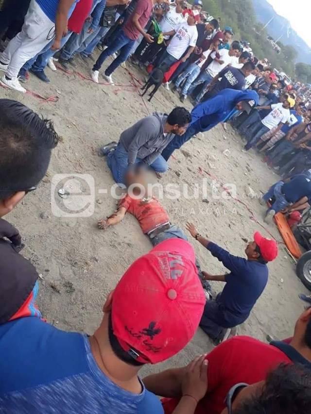 Cuatro personas atropelladas deja carrera de tubulares en Huamantla