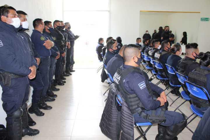 Elementos de seguridad pública de Tepetitla reciben capacitación en materia de Justicia Cívica