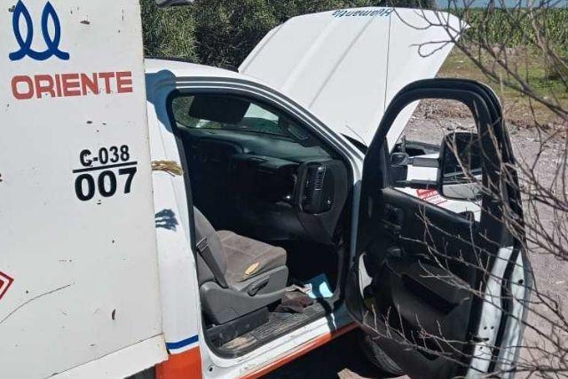 Localizan con huellas de desvalijamiento un camión gasero en Ixtenco