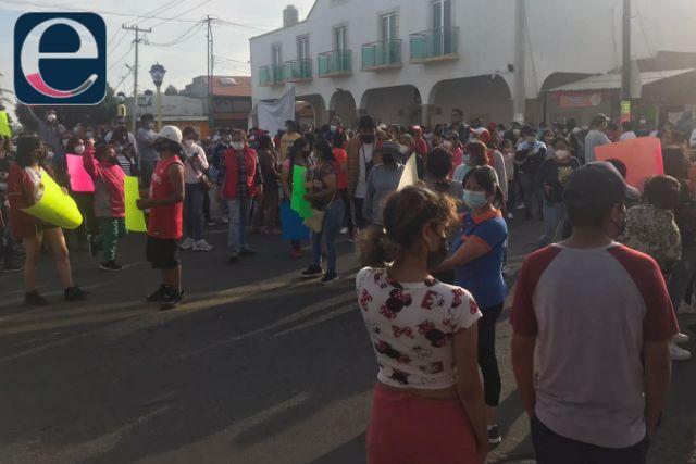 Crispín Corona y sus achichincles reabren la carretera federal Puebla – Tlaxcala