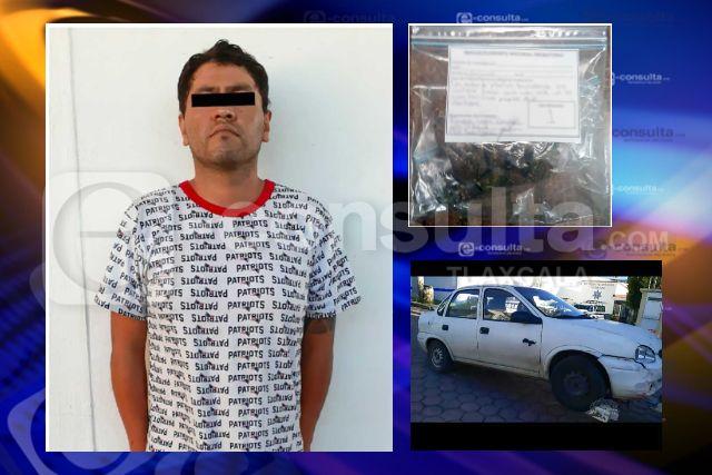 La SSC detiene a una persona con enervantes en Tlaxcala