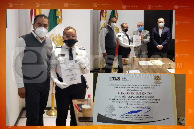 Reconoce SSC compromiso de Héctor Domínguez con la profesionalización policial