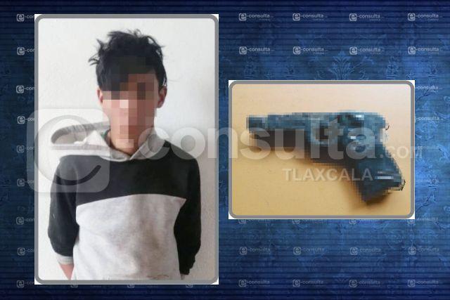 Aseguran a una persona por el delito de allanamiento y asalto en Huamantla