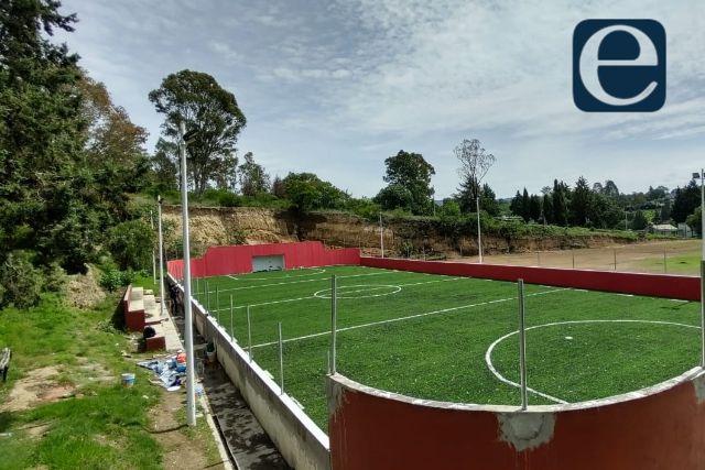 Zambrano supervisa la transformación de los avances en espacios deportivos
