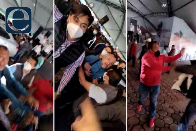 Se arma la bronca en el sorteo del 7 de Mayo; responsabilizan a Edgar Tlapale
