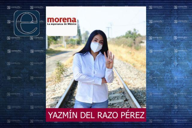 Con una importante ventaja cierra Yazmin del Razo su campaña