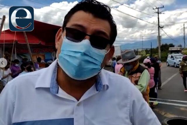 Bloquean la carretera federal Tlaxcala-San Martin; pobladores piden agua potable