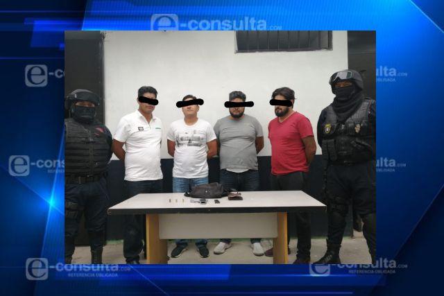 Detienen a presuntos delincuentes en Zacatelco
