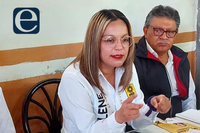 Firme la candidatura de Marlene en Totolac; denuncia guerra sucia en su contra